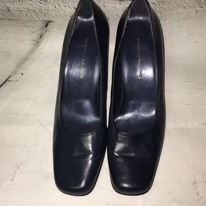 Bandolino Navy leather block heel
